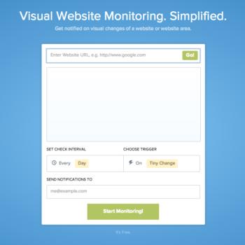 Visual Ping サイトの見た目を監視して通知する無料ウェブサービス