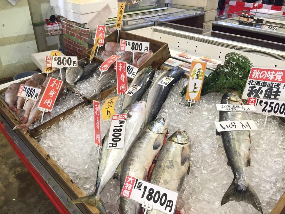 博多街道魚市秋鮭