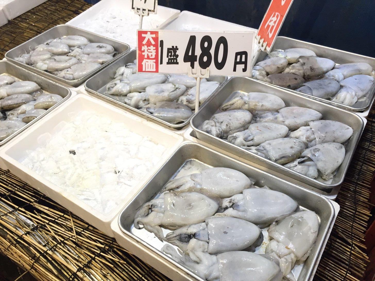 博多街道魚市