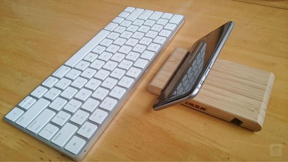 Apple Magic Keyboard with IKEA BERGENES