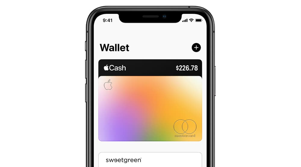 Apple Wallet Multicolor gradient